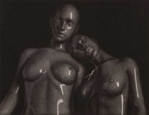 Artwork of Two Girls with naked breast